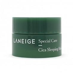 Маска ночная восстанавливающая LANEIGE Cica Sleeping Mask / зеленая, 10 мл