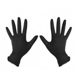 Перчатки нитриловые черные, размер M (пара, 2 шт)