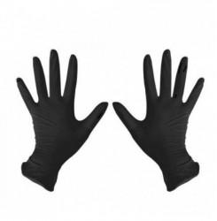 Перчатки нитриловые черные, размер L (пара, 2 шт)