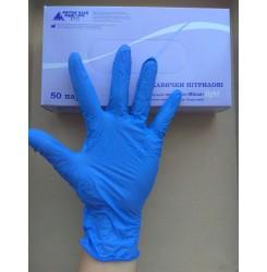Перчатки нитриловые Виола light , 100 шт упаковке размер L королевский голубой цвет