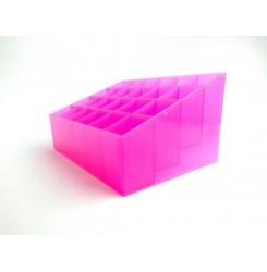 Подставка для косметики на 24 ячейки, розовая