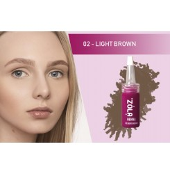 Хна для бровей ZOLA / 02 light brown, 5 г