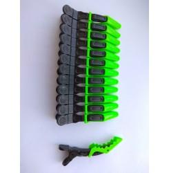 """Зажим """"крокодил"""" черно-салатовый Matrix для густых волос"""