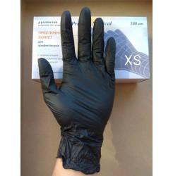Перчатки нитриловые Prestige чёрные ,100 шт в упаковке, размер XS