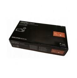 Перчатки нитриловые Nitrylex черные,100 шт. в упаковке, размер XL
