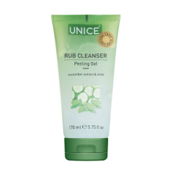 Пилинг-гель с огурцом и мятой Unice Rub Cleanser Peeling Gel, 170 мл / зелёный