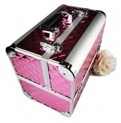 Чемодан для косметики, маникюра, визажиста / розовый