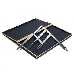 Циркуль Леонардо для разметки и построения бровей / серебро