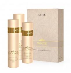 "Набор для волос ""Белый шоколад"" Estel Professional White Chocolate / шампунь + бальзам + спрей"