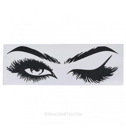 Наклейка Lash & Brow бровиста, лешмейкера в салон или студию 19*57 см