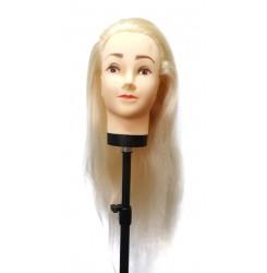 Голова манекен учебная (болванка) искусственные волосы / блондинка 45 см