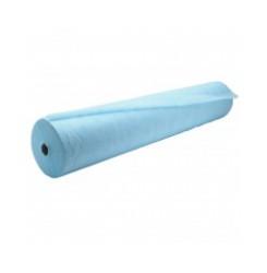 Простынь одноразовая в рулоне 100 м 17-19 гр./кв.м (голубой) 60 см, без перфорации