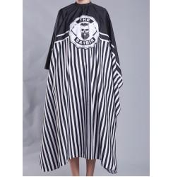 Пеньюар для стрижки The BARBER / черный зебра