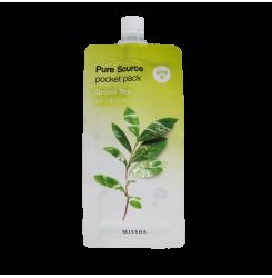 Маска для лица с зеленым чаем Missha Pure Source Pocket Pack Green Tea, 10 мл
