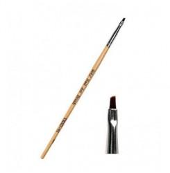 Кисть скошенная для краски, хны , подводки YRE / деревянная ручка 01