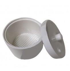 Контейнер для стерилизации фрез пластиковый белый / круглый