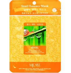 Маска тканевая с муцином улитки MJ Care Snail Essence Mask / оранжевая, 23 гр