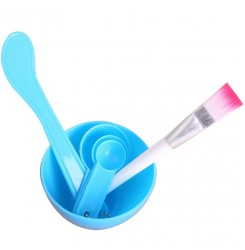 Набор для приготовления и нанесения масок для лица / синий