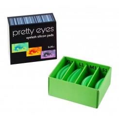 Набор валиков Pretty Eyes 4 пары S1-XL1 (ультрамягкие) / зеленые