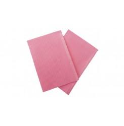 Нагрудник (непромокаемые стоматологические салфетки) 1 шт - розовый