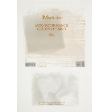 Маска для выравнивания тона с лактобактериями JMsolution Lacto Saccharomyces Golden Rice Mask, 30 мл