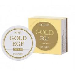 Патчи гидрогелевые Petitfee Gold & EGF Patch Premium (золотая упаковка)