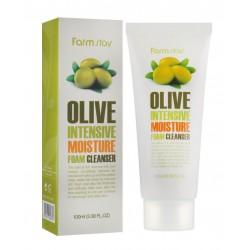 Пенка для умывания увлажняющая с экстрактом оливы FARMSTAY Olive Intensive Moisture Foam Cleanser