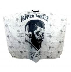 Пеньюар для стрижки The DAPPER BARBER / черно-белый
