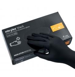 Перчатки нитриловые Nitrylex черные,100 шт. в упаковке, размер XS
