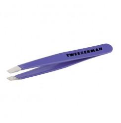 Пинцет для бровей Tweezerman / фиолетовый мини