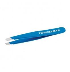 Пинцет для бровей Tweezerman / голубой мини