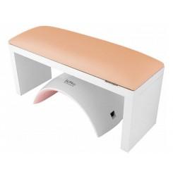 Подлокотник-подставка для маникюра / бежевый на белых ножках