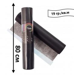 Простынь одноразовая в рулоне 100 м 19 гр./кв.м (черный) 80 см