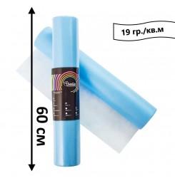 Простынь одноразовая в рулоне 100 м 19 гр./кв.м (голубой) 60 см