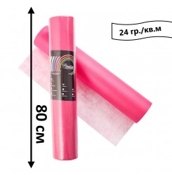 Простынь одноразовая в рулоне 100 м 24 гр./кв.м (розовый) 80 см