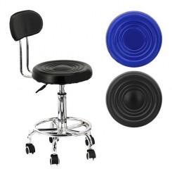 Стул-кресло со спинкой на колесах