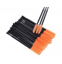 Щеточки для бровей и ресниц силиконовые Orange 6 шт