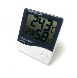 Термометр-гигрометр HTC-1 с часами