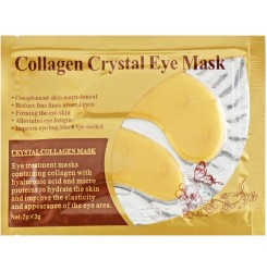 Патчи под глаза увлажняющие с коллагеном Collagen Crystal Eye Mask Gold, 1 пара / золотые