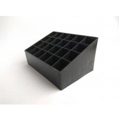 Подставка для косметики на 24 ячейки,  чёрная