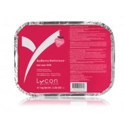 Воск гарячий с ароматом клубники LYCON / SOBERRY DELICIOUS HOT WAX XXX, 1 кг
