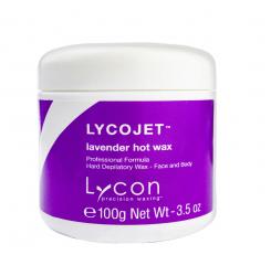 Воск гарячий с лавандой и ромашкой LYCON LYCOJET / Lavender hot wax, 100 г (баночка)